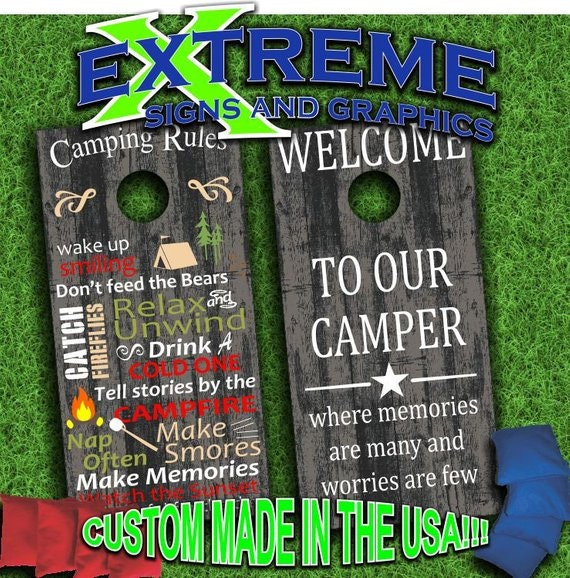 Outstanding Custom Made Cornhole Bean Bag Toss Boards With Bags Camping Rules Campground Design Ocoug Best Dining Table And Chair Ideas Images Ocougorg