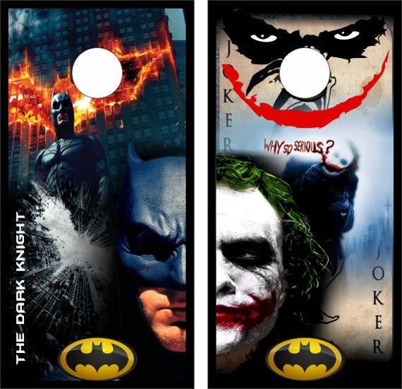 Miraculous Custom Made Cornhole Bean Bag Toss Boards With Bags Batman Joker Split Face Design Ii Creativecarmelina Interior Chair Design Creativecarmelinacom