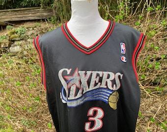 658a77088 Sixers Jersey   Allen Iverson   90 s   3   Champion   Large   Vintage    Tank Top   Distressed   Philadelphia   Basketball   NBA