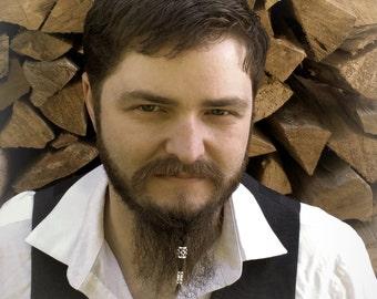 Dwarvendom 2 Bead Beard Bead Kit viking beard rings Celtic pirate goth mens fashion