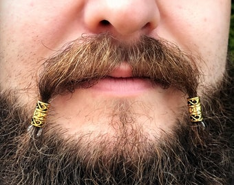 Dwarvendom Beard Bead Kit gold TIBETAN ALLOY Viking beard rings dwarven Celtic norse beard kit pirate beard beads