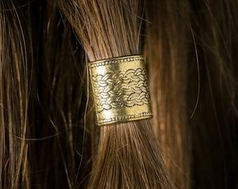Dwarvendom Beard Bead Kit goldtone TIBETAN ALLOY Viking beard rings dwarf pirate Celtic norse rune mens