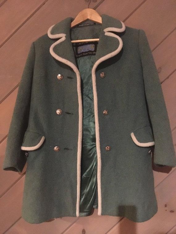 Lodenfrey Austrian Nordic Boiled Wool Coat Vintage