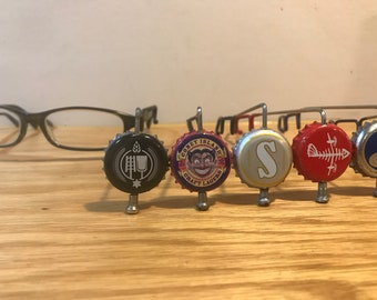 Beer View Mirror (New York/New Jersey): Bicycling mirror made with Bottle Cap, Spoke, & Acrylic Mirror