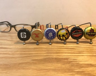 Beer View Mirror (PA): Bicycling mirror made with Bottle Cap, Spoke, & Acrylic Mirror