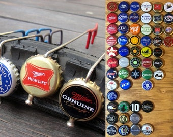 Beer View Mirror (Macrobrews): Bicycling mirror made with Bottle Cap, Spoke, & Acrylic Mirror