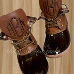 Monogrammed Duck Boots / Christmas Present for her