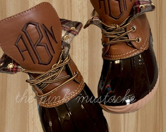 best website f26c7 c243f Monogrammed Duck Boots   Christmas Present for her
