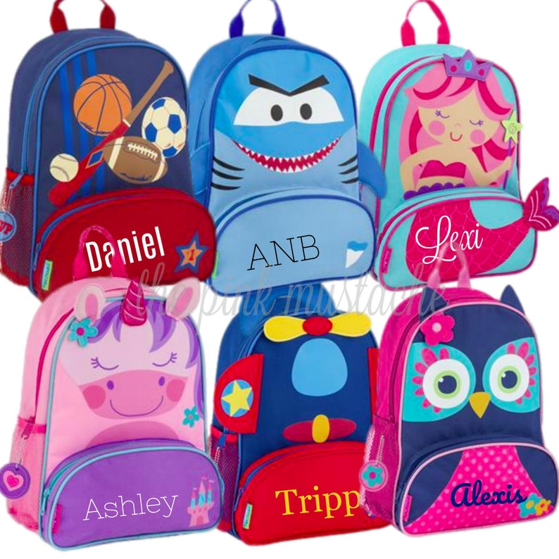 040714aa55 Personalized Embroidered Backpack   Stephen Joseph   Toddler