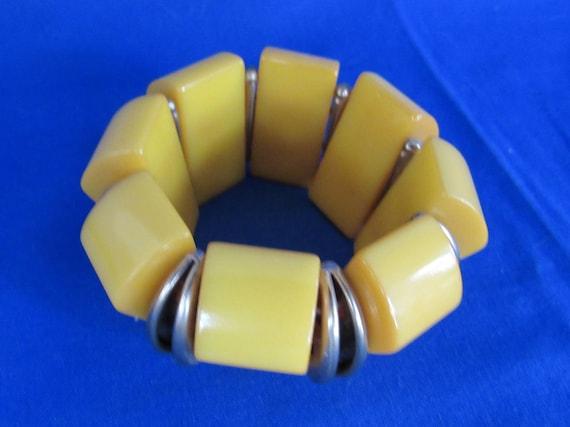 Bakelite Expansion Yellow Bracelet bangles