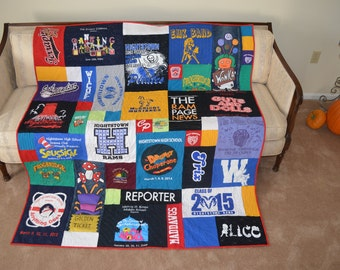 Mosaic Tshirt Quilt - Eclectic and Funky - DEPOSIT ONLY