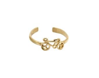 Brass Ring. Raw Brass Adjustable. Handmade Brass Ring. Small Midi Ring. Small Knuckle Ring. Bike Ring
