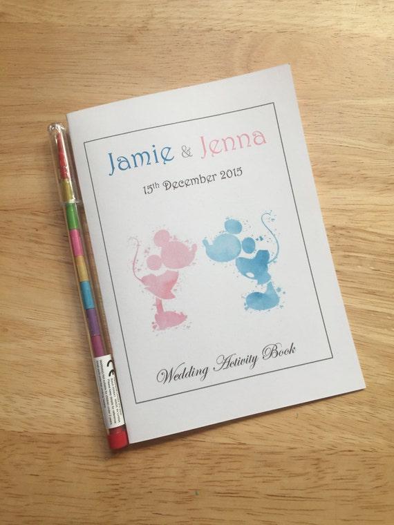Personalised Disney Vintage Childrens Kids Wedding Favour Activity Pack Book