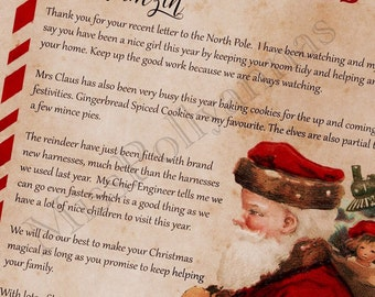 Letter from Santa, nice list certificate, personalised letter