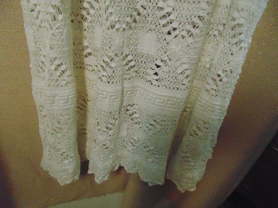 """Antique White Cotton Lace Dress, Bust 32""""   #9182 - image 3"""