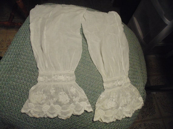 Antique Under Sleeve for 1850s Dress, White cotton