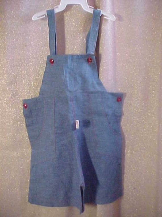 Vintage 40s Girls Blue Cotton Shorts with Halter T