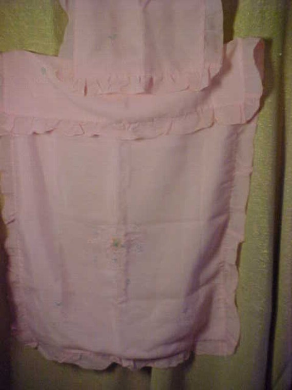 Vintage 30s Babies  Crib Pink Cover with pillow co