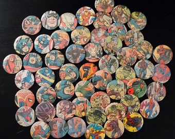 Vintage Comic Buttons: One of a Kind