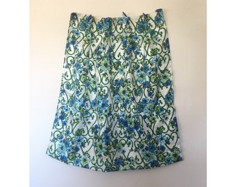 Blue And Green Floral Cafe Curtains