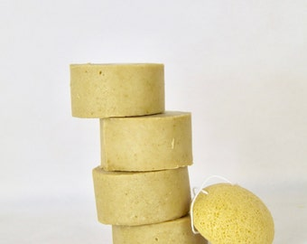 Natural Face Soap. Face Bar. Tumeric Goats Milk Oats Silk Face Soap
