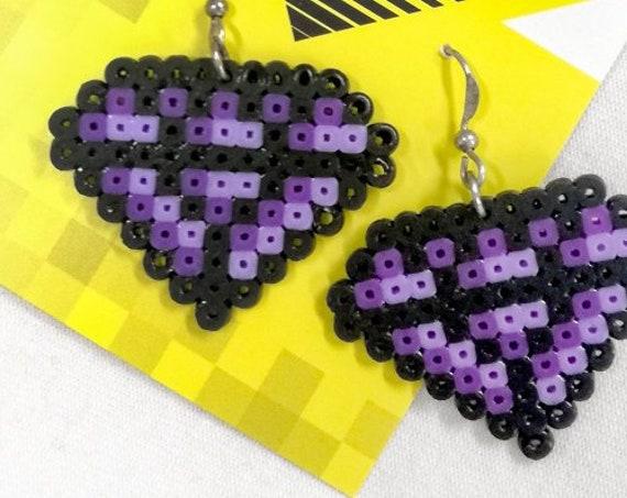 Purple Damn Jewels earrings