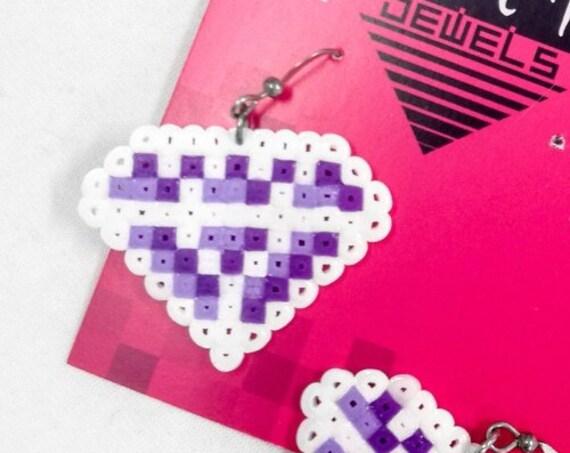White purple Damn Jewels earrings
