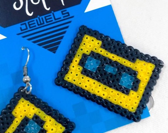 Yellow Retrotape earrings