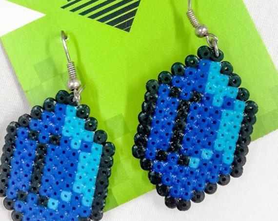 Blue Gemtastic earrings with a turquoise shine
