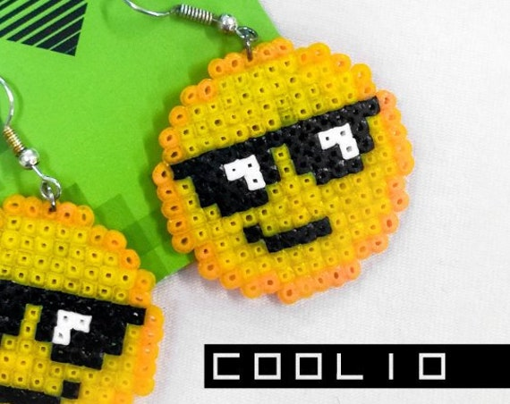 Coolio emoticon earrings