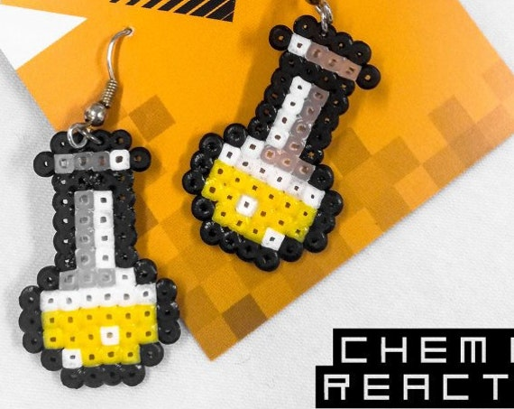 Yellow Chemical Reaction earrings