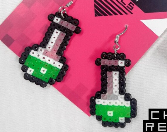 Neon green Chemical Reaction earrings