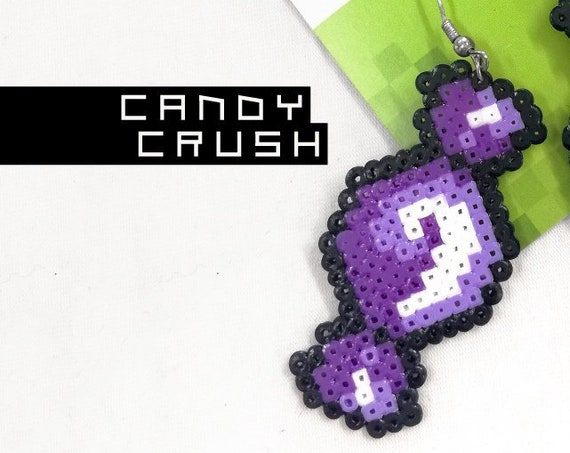 Purple Candy Crush earrings