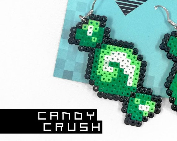 Green Candy Crush earrings