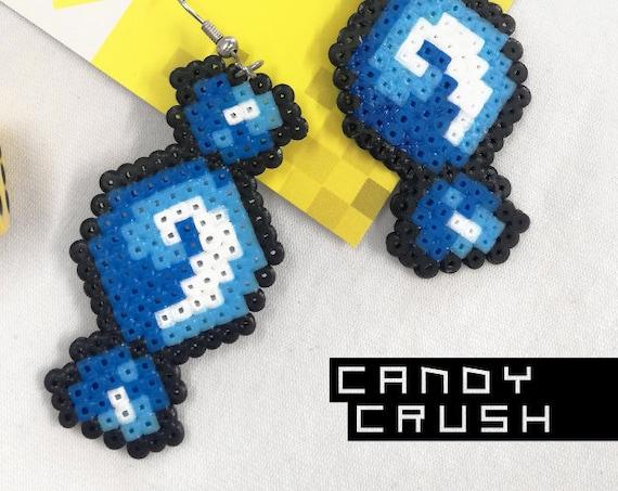 Blue Candy Crush earrings