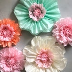 Set of 5 Large Paper Flowers - Perfect Decorations for Wedding,Birthday Party&Baby Shower
