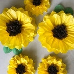 Set of 5 Large Paper SunFlowers - Perfect Decorations for Wedding,Birthday Party&Baby Shower