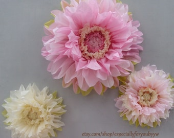 First Birthday Decorations - Set of 3 Giant Paper Flowers (Pink) - Perfect Decorations for Wedding,Birthday Party&Baby Shower