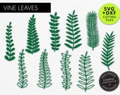 10x Elegant Vine SVG, vine leaf svg, Jungle Leaf svg, DXF, Tropical Leaf svg, Paper flower leaves, Paper Leaf svg, leaves for cricut, pl-11