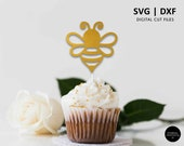 Bee Cake Topper, what will baby bee, cupcake topper, SVG, DXF, svg cutting file, cricut, silhouette, scanNcut, baby shower, bee party