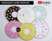 DIY Editable Donut Party Invitation Template, Microsoft Word Template, donut party, donut birthday invitation, first birthday, printable