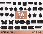 36x Gift Tag SVGs, Shape svg, svg file for Cricut, SVG, DXF, Price Tags, Tags cricut, Tags cut file, Ornate tags, labels, Decorative Tags