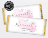 Chocolate Bar Wrapper Template for Christening, Baptism girl, birthday favours, candy wrapper template, wrapper, Aldi, Hershey, Samantha
