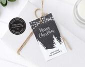 Editable Winter Wonderland Christmas Gift Tags, Instant Download, Woodland Christmas Gift Tags, Holiday Tags, Printable Christmas Tags, 007