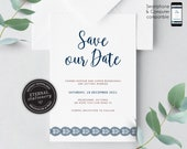 Indian Save the Date Invitation, Wedding Invitation template, Save the Date Printable, Invitation, Editable, Corjl, paisley, Chandi