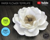Paper Flower Template, PDF/SVG, Paper Flowers, Rose Template, Giant Paper Flower backdrop, Paper Flower Printable, Paper Flower SVG, Rose