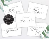 Bridal Party Proposal Card Template, Will You be My Bridesmaid Card, Maid of Honor Card, Groomsman Card, Bridal Party, Bridal Party Gifts