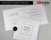 Editable Microsoft Word Wedding Invitation Suite, Template, Printable, Wedding Invitations, elegant, hardcover, lace, nude, DIY, Kathy