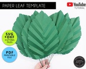 Paper Leaf Template, PDF/SVG, Paper Flowers, Leaf Template, Giant Paper Flower backdrop, Paper Leaf Printable, Paper Leaf SVG, Leaf, Leaves