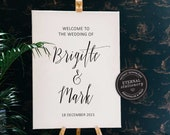 Minimalist Wedding Welcome Sign, Wedding Welcome Sign Template, Welcome sign, Custom Wedding Sign, Printable Welcome Sign, Brigitte